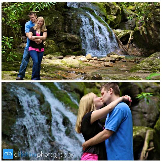 Blue_Hole_Falls_Engagement_Engaged_Couple_Elizabethton_Waterfalls