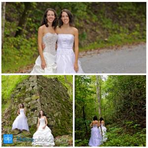 Bridal photographer brides twin sister wedding photography for Wedding dress shops twin cities