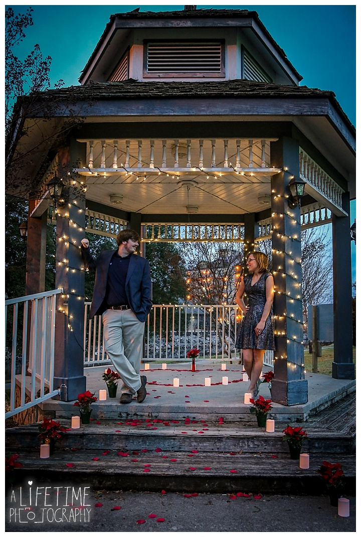 Jonathan Proposes To Abby Decorated Gazebo Patriot