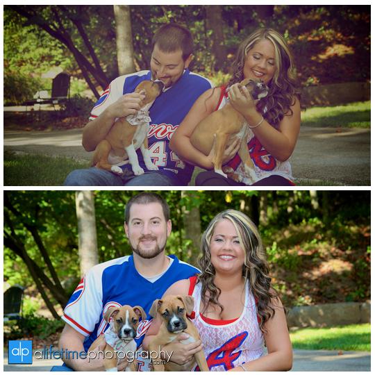 Engagement-Pictures-Couple-Photographer-bull-dog-puppies-engaged-downtown-Jonesborough-Johnson-City-Kingsport-Bristol-TN-1