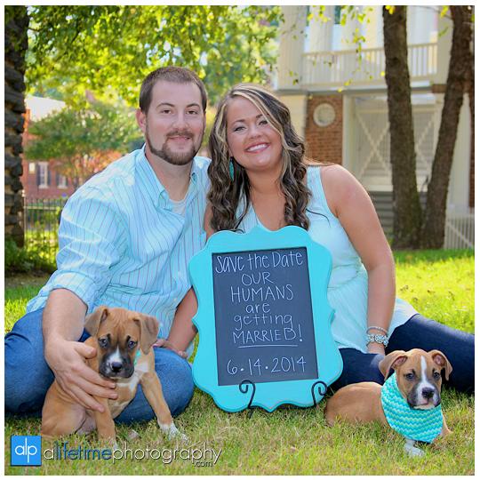 Engagement-Pictures-Couple-Photographer-bull-dog-puppies-engaged-downtown-Jonesborough-Johnson-City-Kingsport-Bristol-TN-7