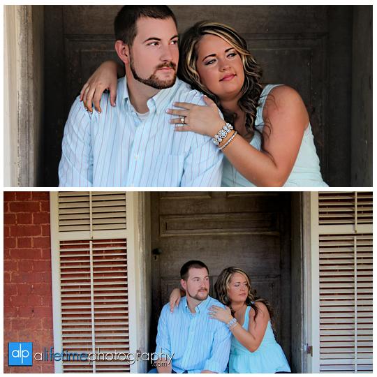 Engagement-Pictures-Couple-Photographer-bull-dog-puppies-engaged-downtown-Jonesborough-Johnson-City-Kingsport-Bristol-TN-9
