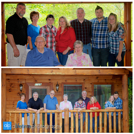 Family pictures at their cabin in Gatlinburg TN Misty mountains photographer Pigeon Forge photography-1