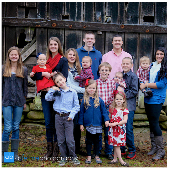 Family reunion session in Gatlinburg Pigeon Forge TN Photographers