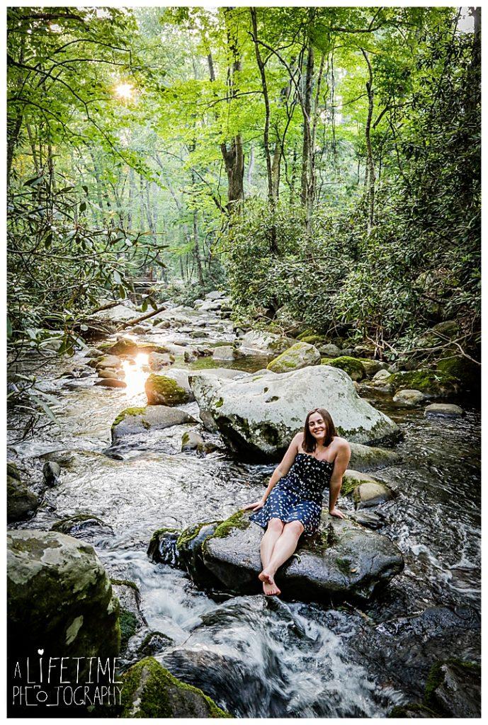 Gatlinburg Senior Photographer Pigeon Forge Sevierville Kodak Roaring Fork Motor Nature Trail Smoky Mountains