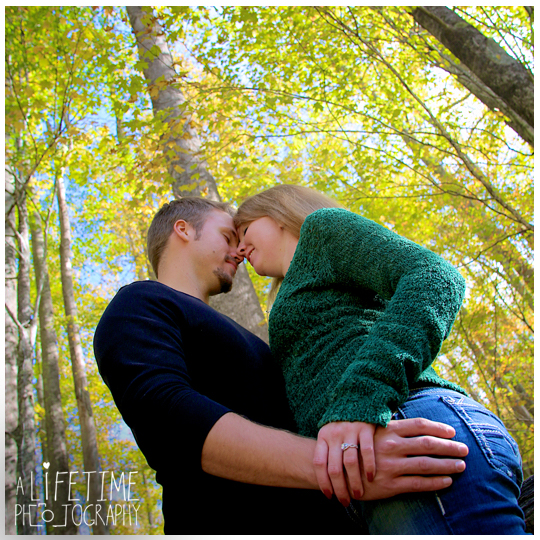 Gatlinburg TN Engagement Photographer session in the smoky mountains national park on Motor Nature Trail outside of Pigeon Forge Tennessee engaged couple-11