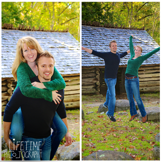 Gatlinburg TN Engagement Photographer session in the smoky mountains national park on Motor Nature Trail outside of Pigeon Forge Tennessee engaged couple-12