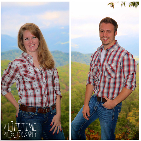 Gatlinburg TN Engagement Photographer session in the smoky mountains national park on Motor Nature Trail outside of Pigeon Forge Tennessee engaged couple-2