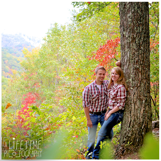 Gatlinburg TN Engagement Photographer session in the smoky mountains national park on Motor Nature Trail outside of Pigeon Forge Tennessee engaged couple-3