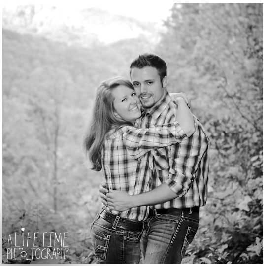 Gatlinburg TN Engagement Photographer session in the smoky mountains national park on Motor Nature Trail outside of Pigeon Forge Tennessee engaged couple-4
