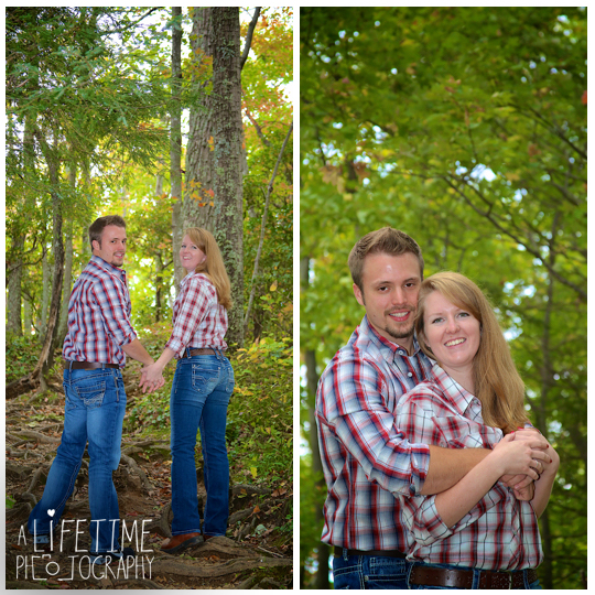 Gatlinburg TN Engagement Photographer session in the smoky mountains national park on Motor Nature Trail outside of Pigeon Forge Tennessee engaged couple-5
