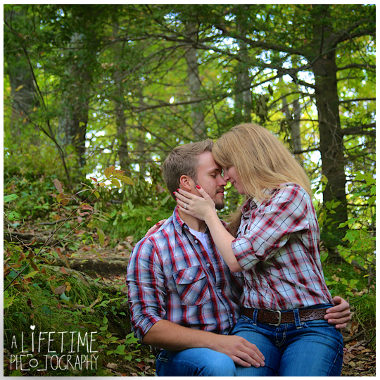 Gatlinburg TN Engagement Photographer session in the smoky mountains national park on Motor Nature Trail outside of Pigeon Forge Tennessee engaged couple-6