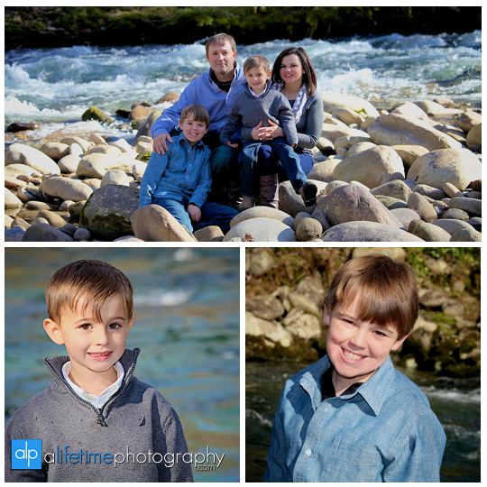 Gatlinburg Tn Family Photographer in Pigeon Forge Sevierville Smoky Mountains kids photography emerts cove covered bridge water river fun pictures-12