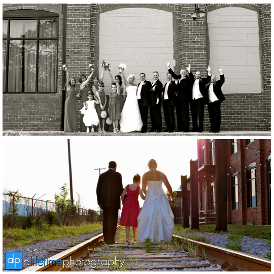Mill_Of_Chattanooga_The_Wedding_Ceremony_Photographer_Bride_Groom_Family_Pictures_Photography_ideas_Bridal_Party_Railroad_Track_Brick_wall