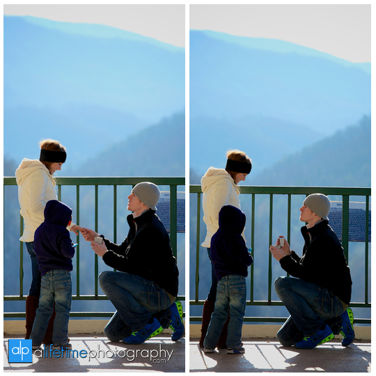 Space needle marriage proposal engagement in Gatlinburg TN photographer Pigeon Forge idea-3