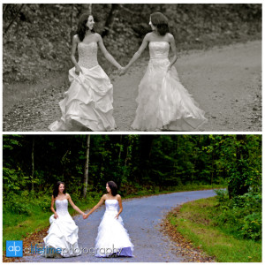 Twin sisters wedding bridal photographer session for Wedding dresses kingsport tn
