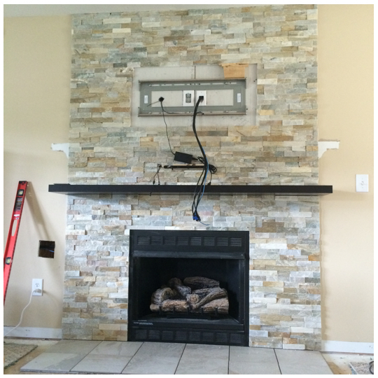 Our Home Improvements | Fireplace Remodel | A Lifetime Photography