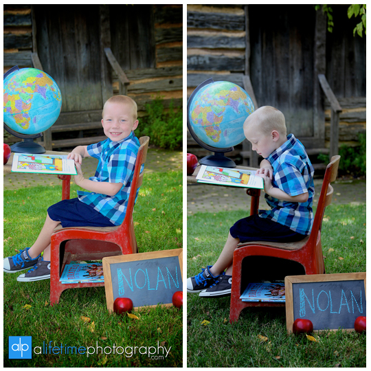 kindergarten-pre-k-back-to-school-first-grade-photographer-pictures-photography-session-desk-apple-props-globe-Johnson-City-Kingsport-Knoxville-Bristol-TN-1