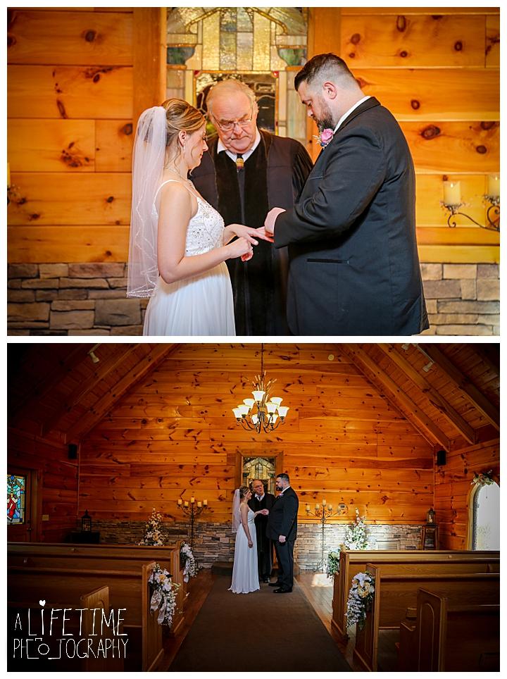 Dan Lisa Little Log Wedding Chapel Gatlinburg Tn